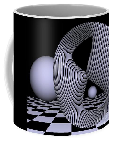 3d Coffee Mug featuring the digital art Opart Devil's Curve by Issabild -