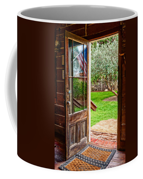 Door Coffee Mug featuring the photograph Open Door by Christopher Holmes