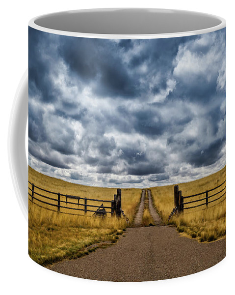 Landscape Coffee Mug featuring the photograph Open Road by Jason Dodd