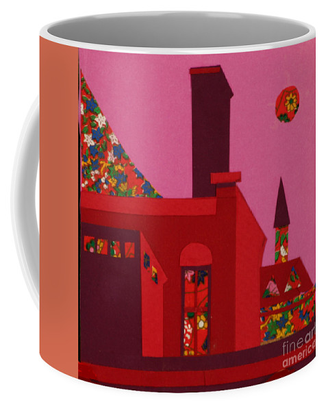 Opera House Coffee Mug featuring the mixed media Opera House by Debra Bretton Robinson
