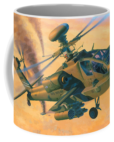 Decorative Coffee Mug featuring the digital art Operation Apache by Don Kuing