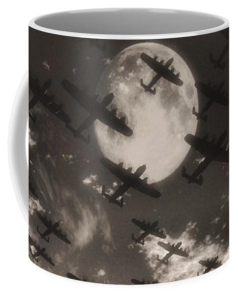 Aviaton Coffee Mug featuring the digital art Operation Moonlight by Richard Rizzo
