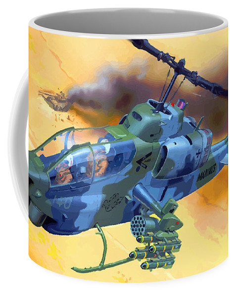 Decorative Coffee Mug featuring the digital art Operation Wolf by Don Kuing