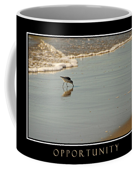 Ocean Coffee Mug featuring the photograph Opportunity Inspirational by David Ross