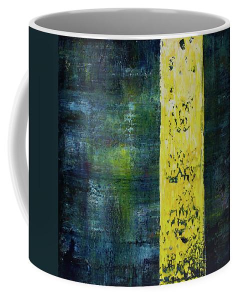 Derek Kaplan Art Coffee Mug featuring the painting Opt.34.16 Let The Sunshine In by Derek Kaplan