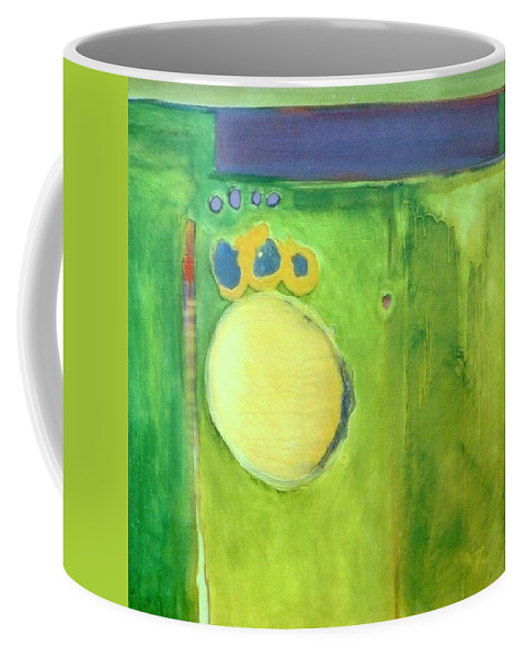 Abstract Coffee Mug featuring the painting Optic Nerve by Marlene Burns