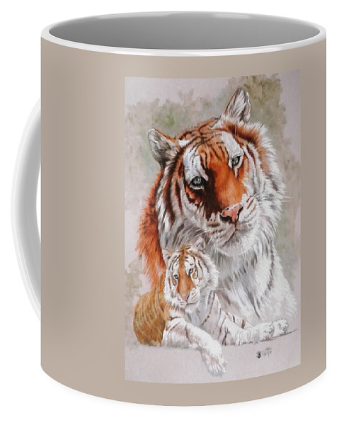 Wildcat Coffee Mug featuring the mixed media Opulent by Barbara Keith
