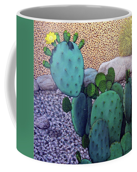 Landscape Coffee Mug featuring the painting Opuntia by Snake Jagger