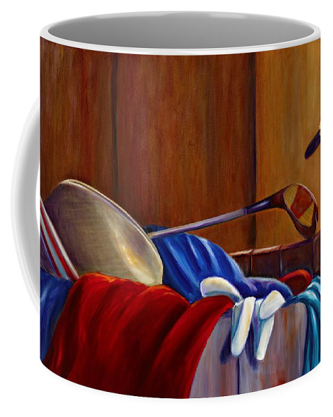 Still Life Coffee Mug featuring the painting Opur's Blade by Shannon Grissom