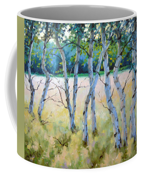 Art Coffee Mug featuring the painting Opus No 4 by Richard T Pranke