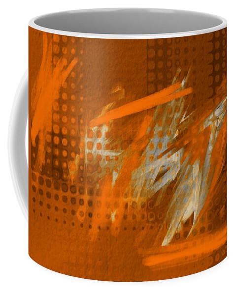 Orange Filter Coffee Mug featuring the digital art Orange Abstract Art - Orange Filter by Barbara Chichester