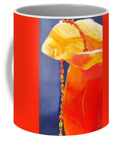 Beads Coffee Mug featuring the painting Orange by Catherine G McElroy