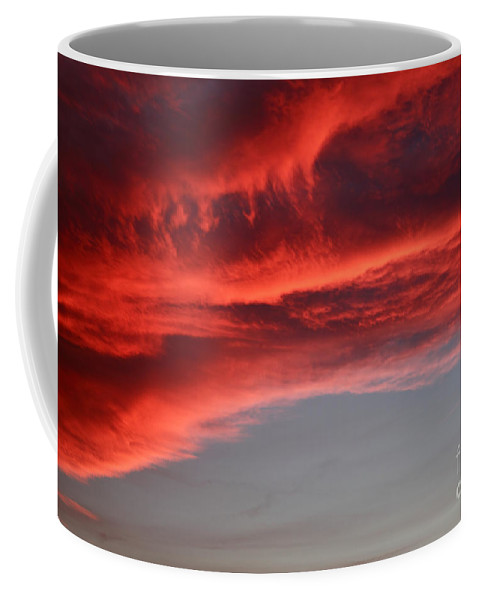 Ablaze Coffee Mug featuring the photograph Orange Clouds by Deborah Benbrook