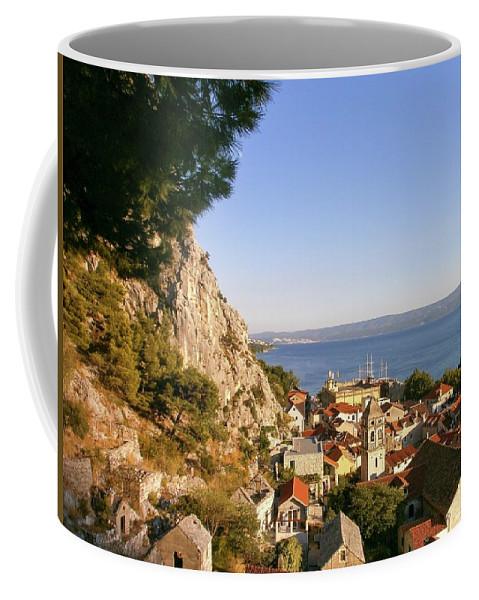 Sunset Coffee Mug featuring the photograph Orange Coastal Sunset by Olga Kurygina