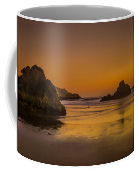 Whaleshead Beach Coffee Mug featuring the photograph Orange Crush by Michele James
