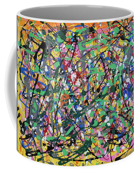Colorful Coffee Mug featuring the painting Orange Delight by Pam Roth O'Mara