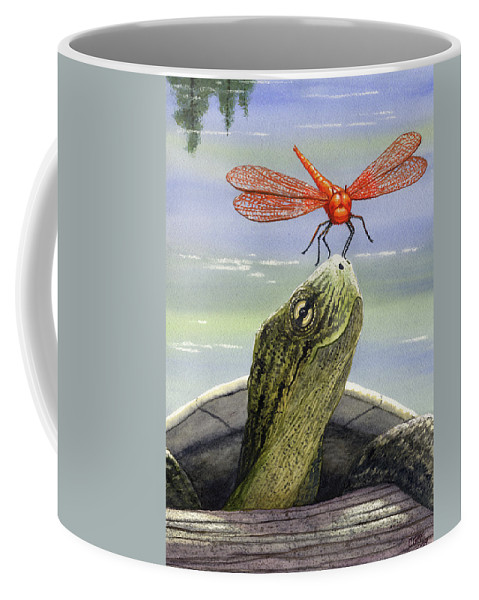 Dragonfly Coffee Mug featuring the painting Orange Dragonfly by Catherine G McElroy
