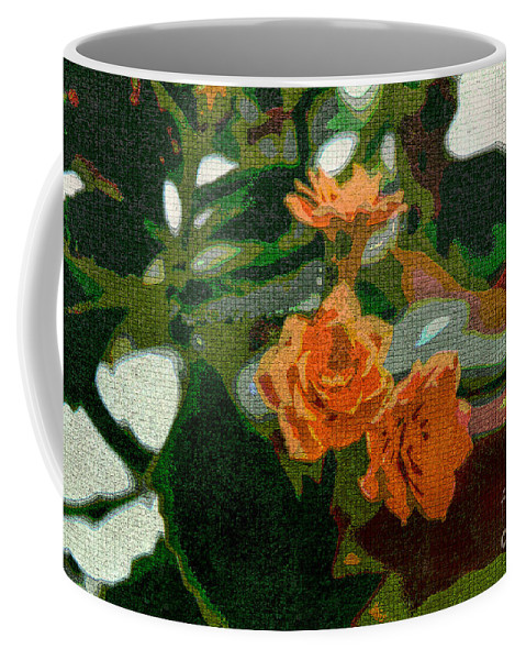 Abstract Coffee Mug featuring the photograph Orange Flower Abstract by William Tasker