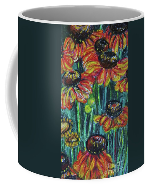 Flowers Coffee Mug featuring the pastel Orange Flowers 2 by Emily Michaud