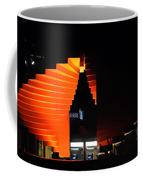 Clay Coffee Mug featuring the photograph Orange Fountain Downtown Los Angeles by Clayton Bruster