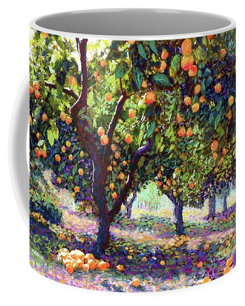 Landscape Coffee Mug featuring the painting Orange Grove of Citrus Fruit Trees by Jane Small