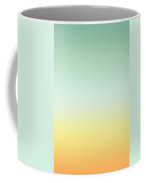 Orange Mint Tea - Abstract Coffee Mug featuring the digital art Orange Mint Tea - R Blended by Custom Home Fashions