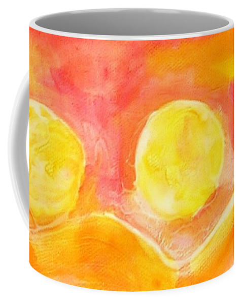 Landscape Coffee Mug featuring the painting Orange Moons by Kathy Augustine