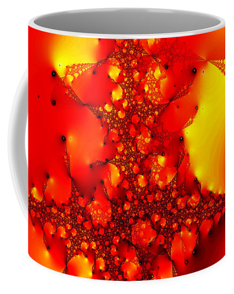 Clay Coffee Mug featuring the digital art Orange Peel by Clayton Bruster