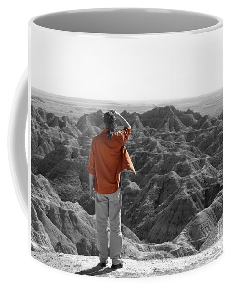 Orange Coffee Mug featuring the photograph Orange Shirt by Jacklyn Duryea Fraizer