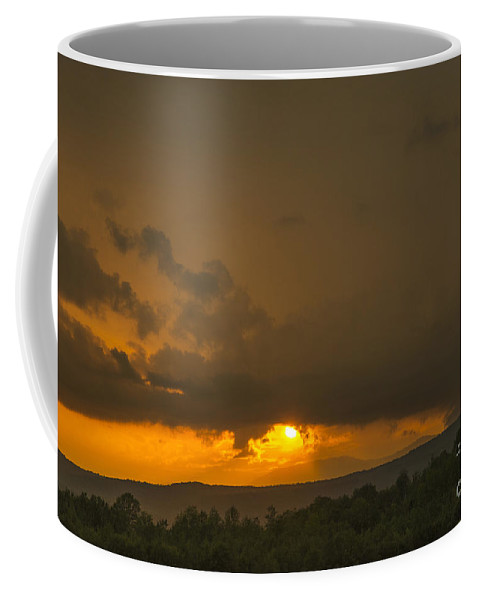 Sunset Coffee Mug featuring the photograph Orange Sunset by Alana Ranney
