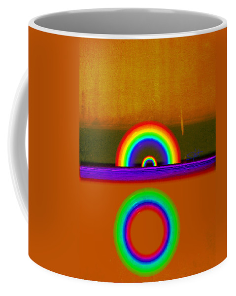 Orange Coffee Mug featuring the painting Orange Sunset by Charles Stuart