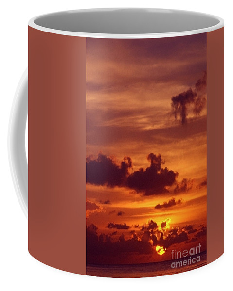 Sunset Coffee Mug featuring the photograph Orange Sunset by Sven Brogren
