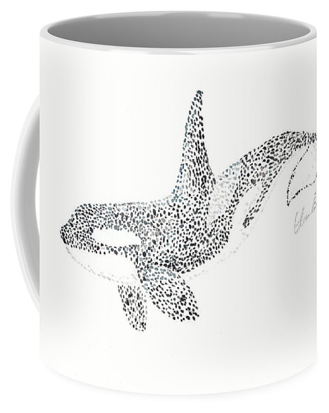 Orca Coffee Mug featuring the painting Orca by Eleanor Goodman