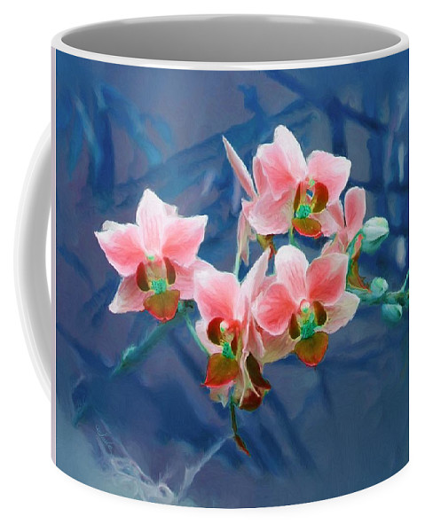 Flowers Coffee Mug featuring the painting Orchid Flowers 8 by Susanna Katherine