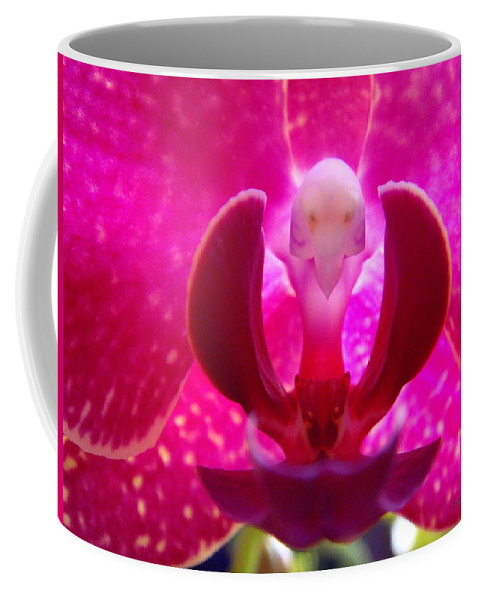 Orchid Coffee Mug featuring the photograph Orchid Genie by Donna Blackhall