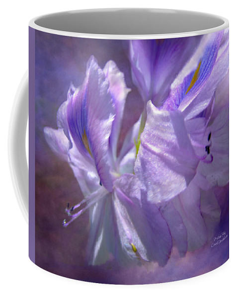 Orchid Coffee Mug featuring the mixed media Orchid Sky by Carol Cavalaris