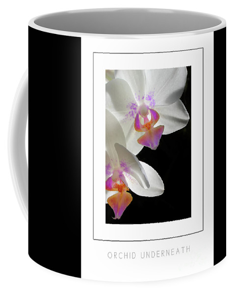 Orchid Coffee Mug featuring the photograph Orchid Underneath Poster by Mike Nellums
