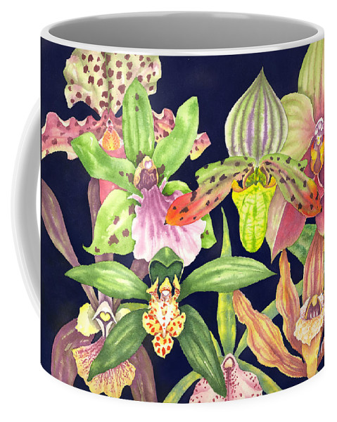 Orchids Coffee Mug featuring the painting Orchids by Lucy Arnold