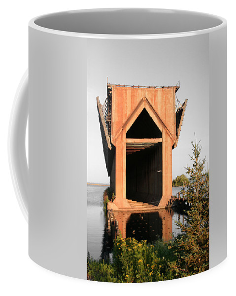 Ore Dock Coffee Mug featuring the photograph Ore Dock by Dylan Punke
