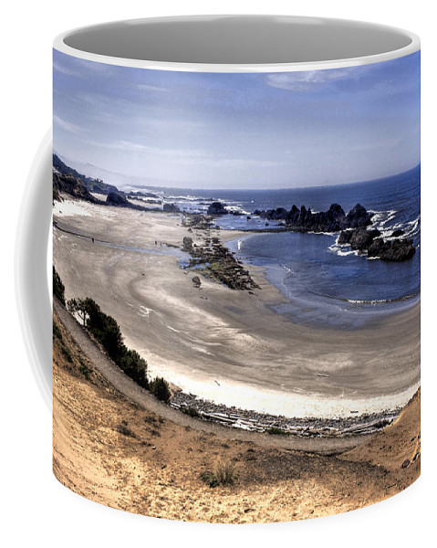 Scenic Coffee Mug featuring the photograph Oregon Coast by Lee Santa
