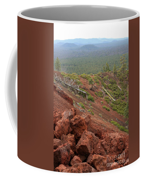 Oregon Coffee Mug featuring the photograph Oregon Landscape - Red Rocks At Lava Butte by Carol Groenen