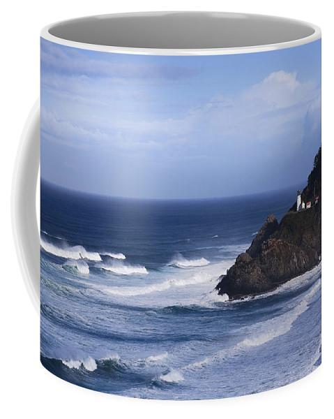 Nature Coffee Mug featuring the photograph Oregon Lighthouse by John K Sampson