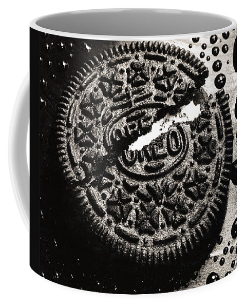 Cookie Coffee Mug featuring the photograph Oreo Cookie by Nancy Mueller
