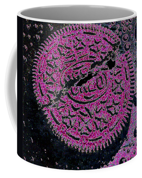 Pink Coffee Mug featuring the photograph Oreo In Pink by Nancy Mueller