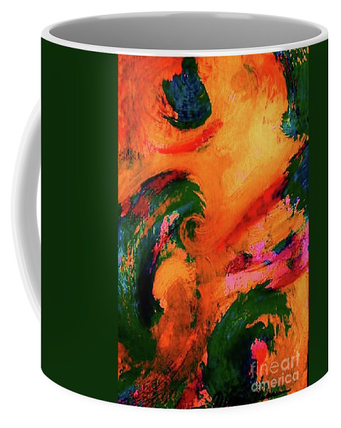 Abstract Coffee Mug featuring the painting Organic Clash by Diana Dearen
