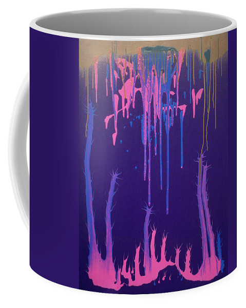 Organic Flow Coffee Mug featuring the painting Organic Flow by Gary Hogben
