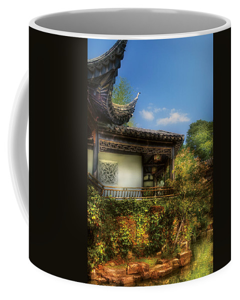 Savad Coffee Mug featuring the photograph Orient - A Place To Pray by Mike Savad