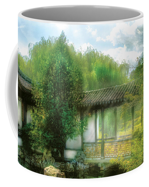 Savad Coffee Mug featuring the photograph Orient - Bridge - Chinese Bridge by Mike Savad