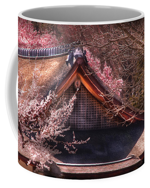 Savad Coffee Mug featuring the photograph Orient - Shofuso House by Mike Savad