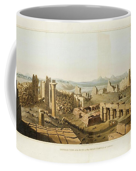 Orient - Egypt - Belzoni Coffee Mug featuring the painting Orient by Egypt